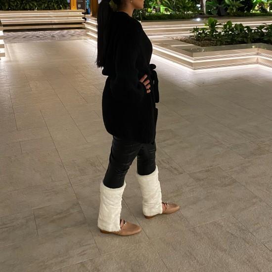 Boot fur leggings
