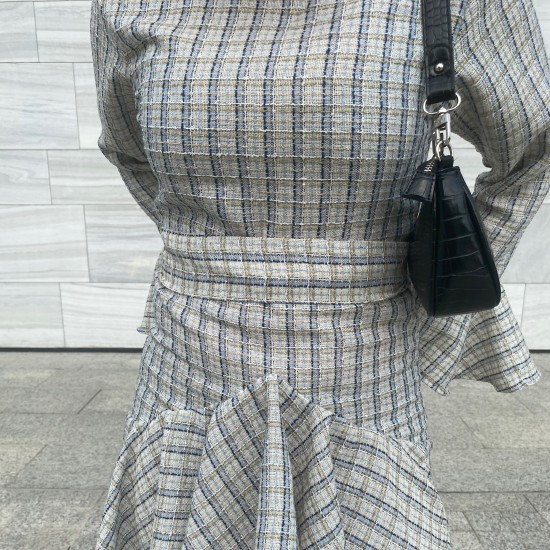 Ruffles striped dress