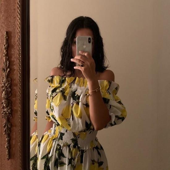 White lemon dress